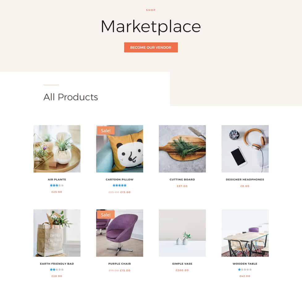 selling market place example