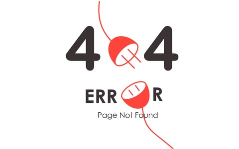404 error when you delete your website pages